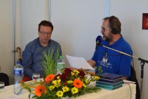 ... und Ullrich Lewicki, der zusammen mit dem verstorbenen Pater Ursmar den Sender 1979 ins Leben gerufen hat.